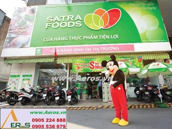THiẾT KẾ NỘI THẤT SIÊU THỊ MINI SATRA FOODS, QUẬN TÂN PHÚ, TP HCM